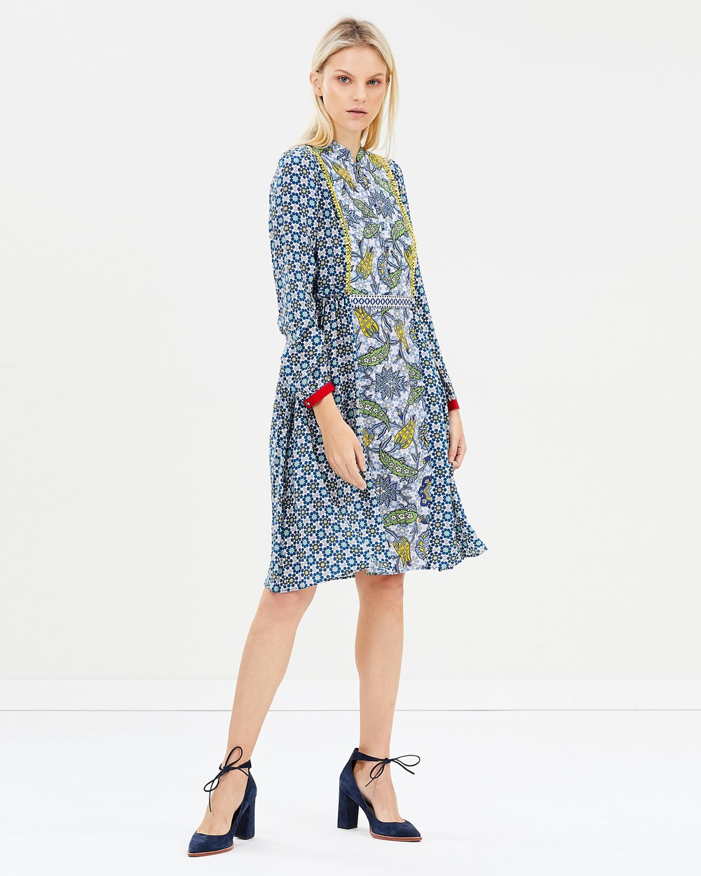 Weekend Max Mara Vite Dress Printed Dresses Navy Vite Dress