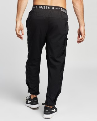 Nike Woven Training Pants - Track Pants (Black, Light Smoke Grey & White)