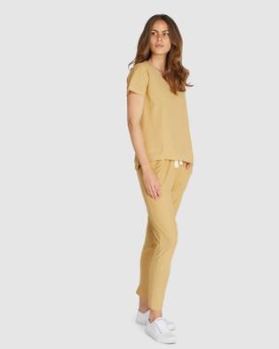 Cloth & Co. Organic Cotton Slub T Shirt - Short Sleeve T-Shirts (Harvest)