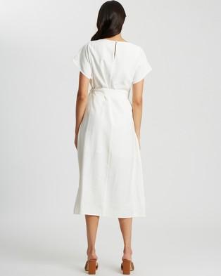 Reux Chance Midi Dress - Dresses (White)