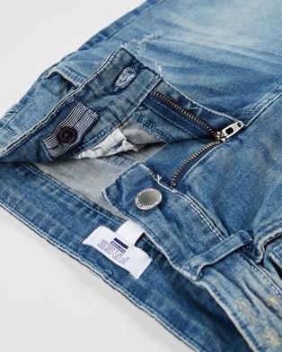 Free by Cotton On Bermuda Denim Shorts   Teens - Denim (Mid Blue Wash)
