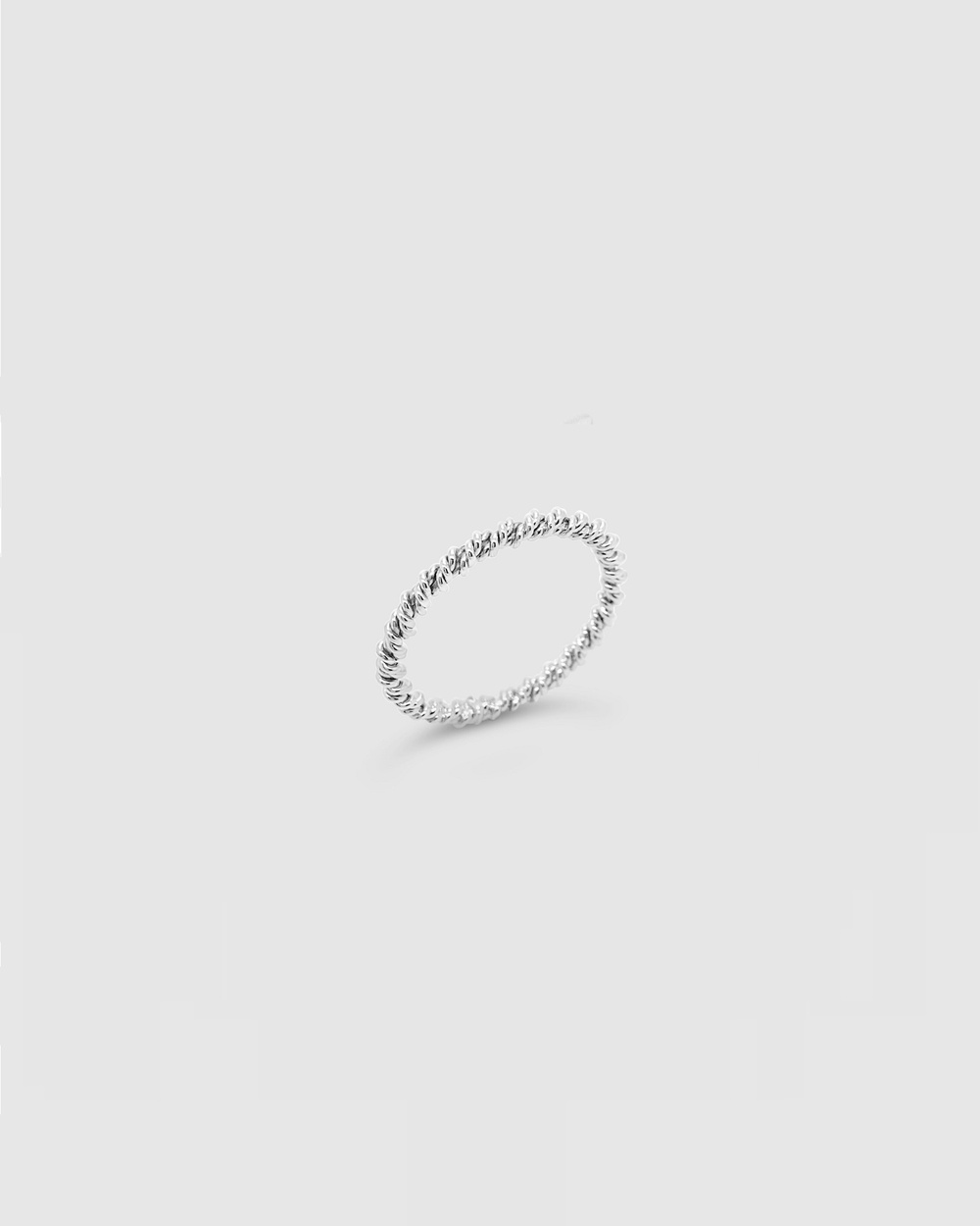 Ichu French Rope Ring Jewellery Silver