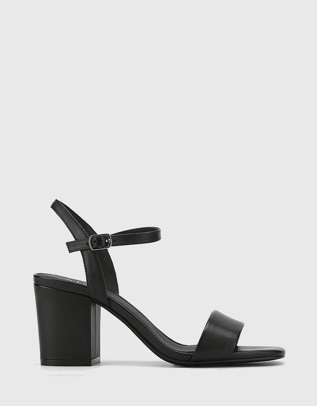 Wittner - Collin Leather Block Heel Ankle Strap Sandals