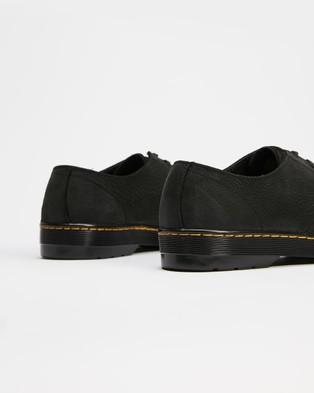 Dr Martens - Coronado 3 Eye Shoes Unisex Dress (Black Milled Nubuck) 3-Eye