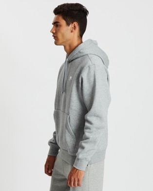 Nike Sportswear Club Fleece Pullover Hoodie Hoodies Dark Grey Heather, Matte Silver & White