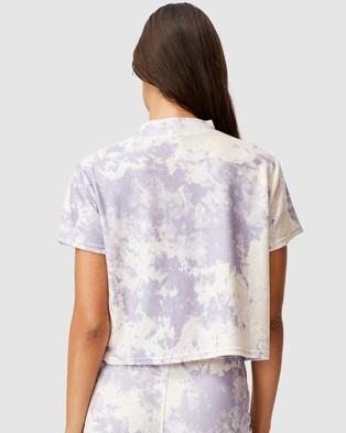 Cotton On Body - Super Soft Lounge T Shirt - T-Shirts & Singlets (Lilac Marble Tie Dye) Super Soft Lounge T-Shirt