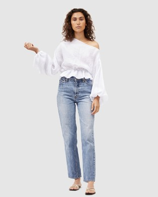 Dominique Healy - Anna Frill Blouse Cropped tops (White)