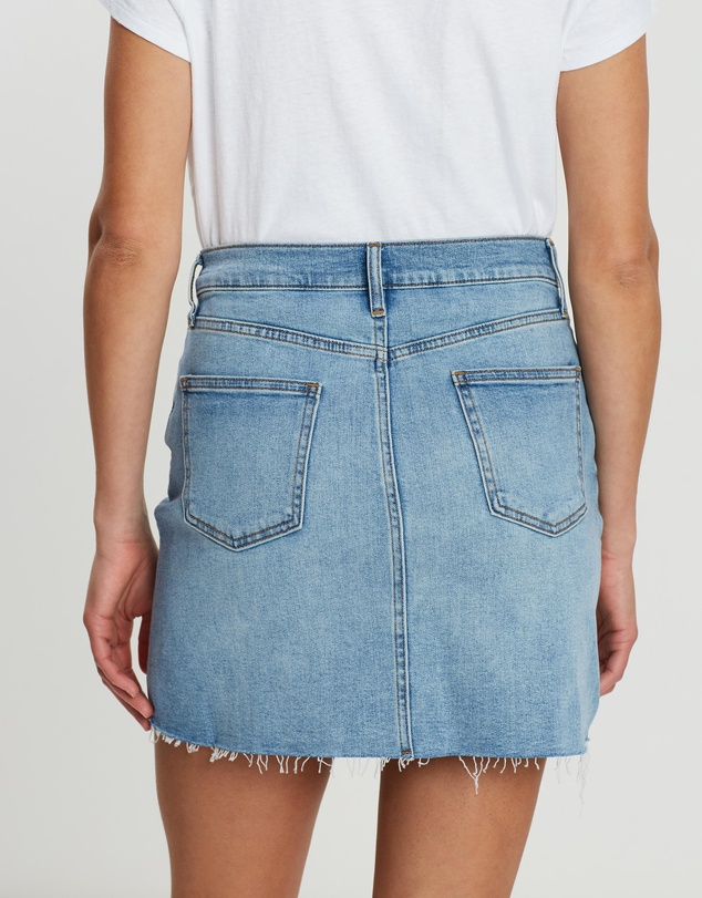 Gap - High-Rise Denim Mini Skirt