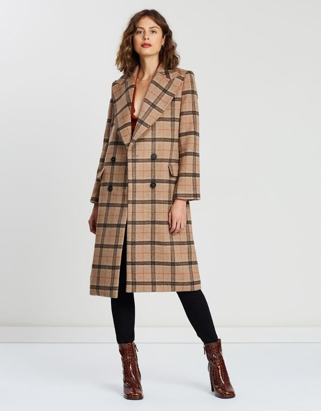 Atmos&Here - Chelsea Wool Checked Coat
