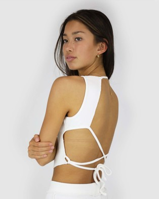 Dakota501 - Deconstructed Rib Top Tops (Off White)