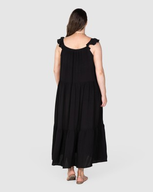 Love Your Wardrobe Jaslyn High Volume Dress - Dresses (Black)