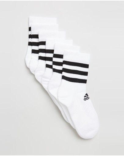 adidas Performance - 3-Stripes Cushioned Crew Socks 3-Pack