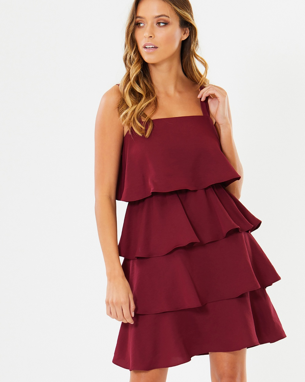 Calli Kenny Layered Dress Dresses Burgundy Kenny Layered Dress