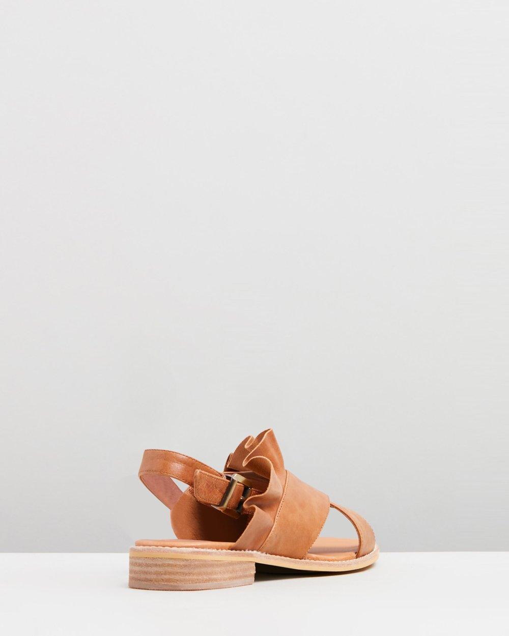 1b16d1351e8f Eloise Leather Ruffle Sandals by Walnut Melbourne Online
