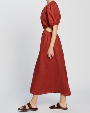 AERE - Cut Out Maxi Dress - Dresses (Rust) Cut Out Maxi Dress
