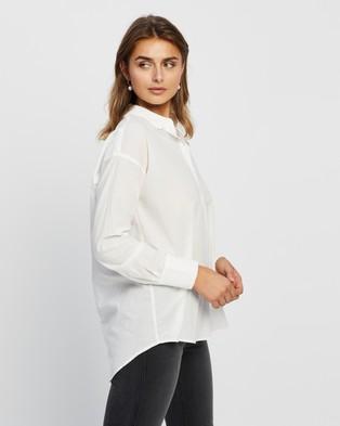Vero Moda India Loose LS Shirt - Tops (Snow White)