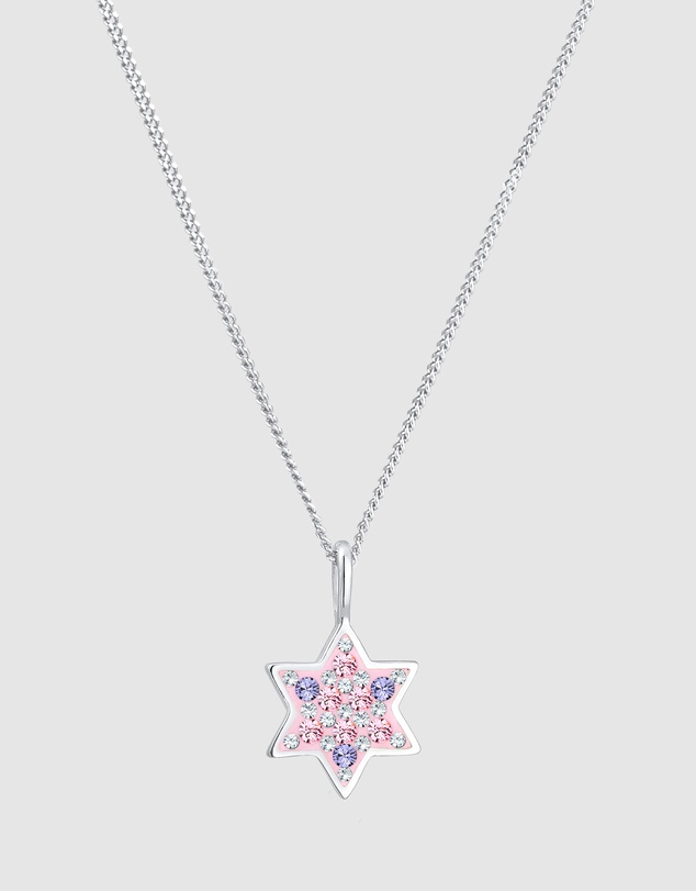 Elli Jewelry - Kids - Necklace Children Star Pastel with Swarovski® Crystals in 925 Sterling Silver