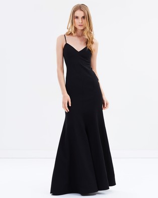 C/MEO COLLECTIVE – Right Now Full Length Dress Black