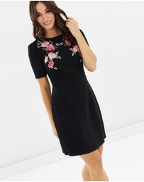 Oasis - Rose Embroidered Pencil Dress