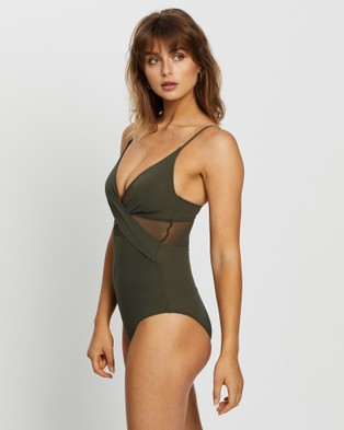 JETS Conspire Cross Over One Piece - One-Piece / Swimsuit (Khaki)