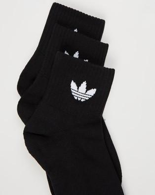 adidas Originals Mid Cut Crew Socks 3 Pack - Crew Socks (Black)