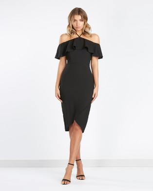 Calli – Amara Halterneck Dress Black