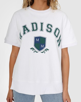 Madison The Label College Sweater Tee - T-Shirts & Singlets (White)