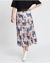 Romance Was Born - Peek-A-Bow Knife Pleat Skirt