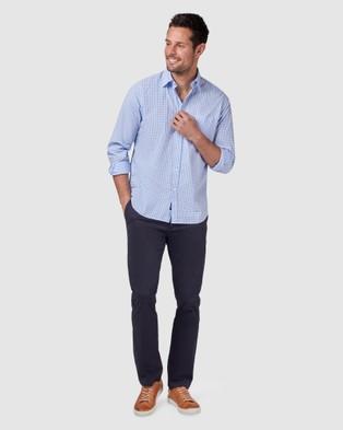 Blazer Reggie Long Sleeve Check Shirt - Shirts & Polos (Blue)