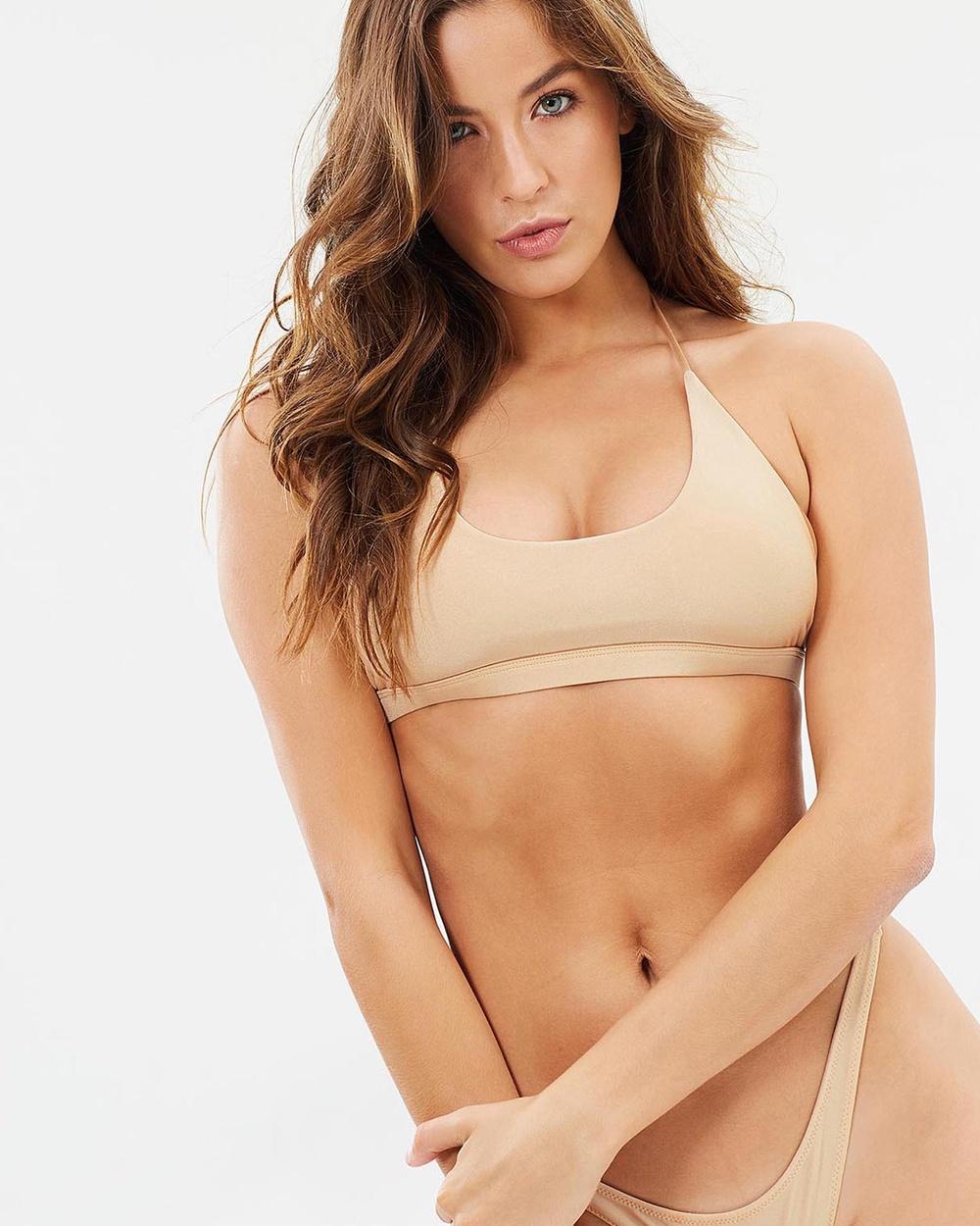 Buy We The Dreamrs Rizzoli Bikini Top Bikini Tops Nude Rizzoli Bikini Top -  shop We The Dreamrs swimwear online