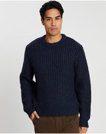 Kent and Curwen - Mélange Crew Neck Sweater