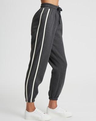 Calli Cara Joggers - Sweatpants (Charcoal & White)