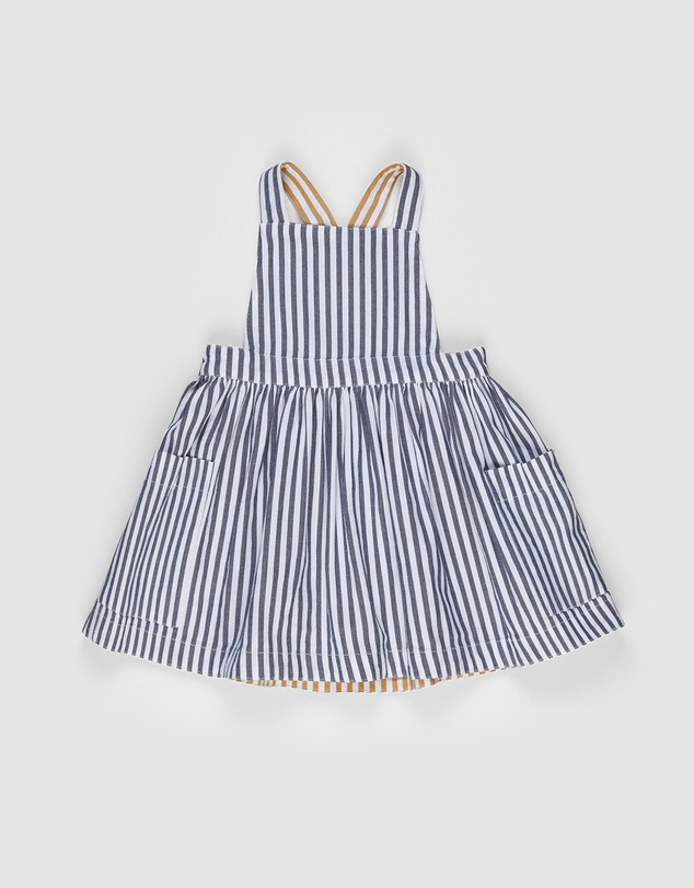 Huxbaby - Stripe Reversible Pinafore - Kids