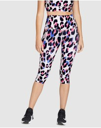 Rockwear - Popsicle Print Shaped Waist 3/4 Tights