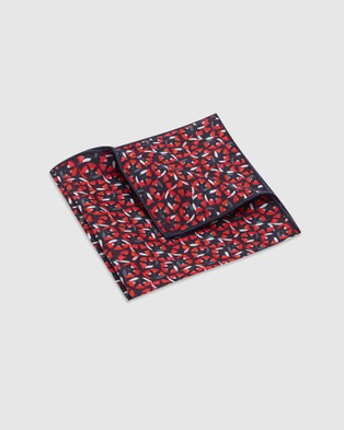 Buckle Jocelyn Proust   Pocket Square - Pocket Squares (Red/Navy)
