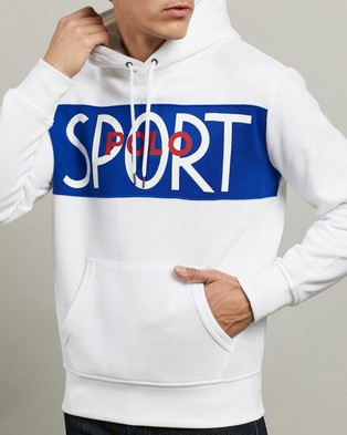Polo Ralph Lauren ICONIC EXCLUSIVE   Long Sleeve Knit Hoodie - Hoodies (White)