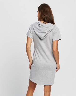 Angel Maternity Maternity And Nursing Hoodie Dress - Dresses (Marl Grey)