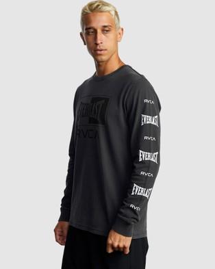 RVCA Rvca X Everlast Box Long Sleeve - Long Sleeve T-Shirts (BLACK)