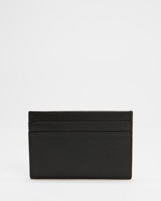 Smythson Panama Flat Cardholder - Wallets (Black)