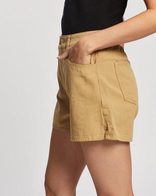 Rusty Taylor Shorts - High-Waisted (Clay)
