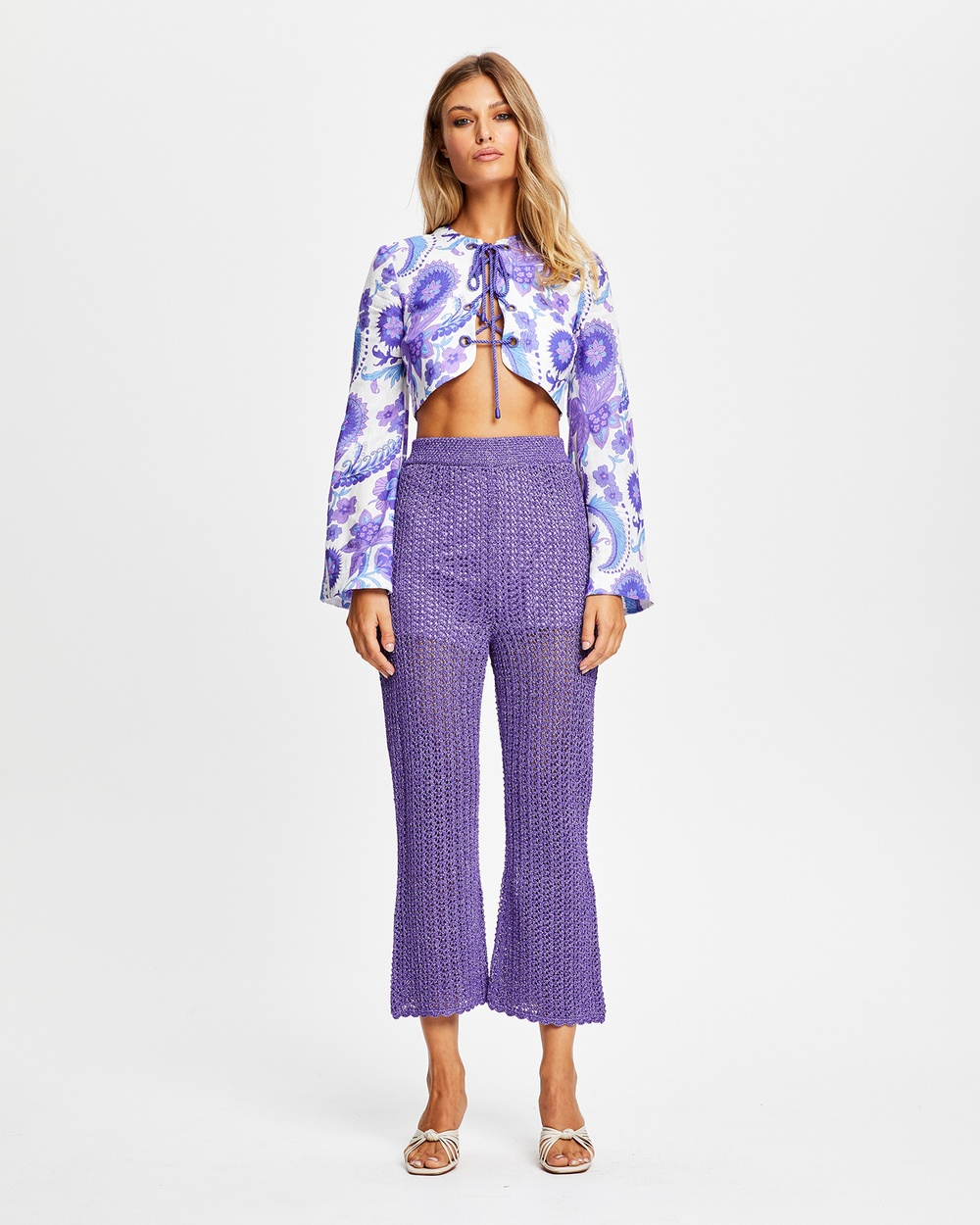 alice McCALL Blueberry Nights Top Cropped tops Jacaranda