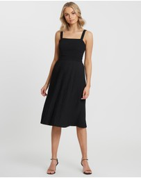 Calli - Genvieve Pleated Midi Dress
