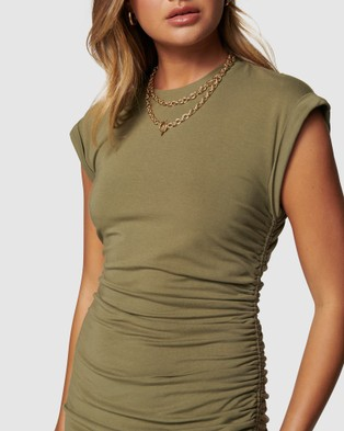 Forever New Roxi Extended Sleeve Mini Dress - Dresses (Oregano)