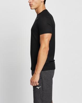 Mizuno Dry Aeroflow Tee - Short Sleeve T-Shirts (Black)