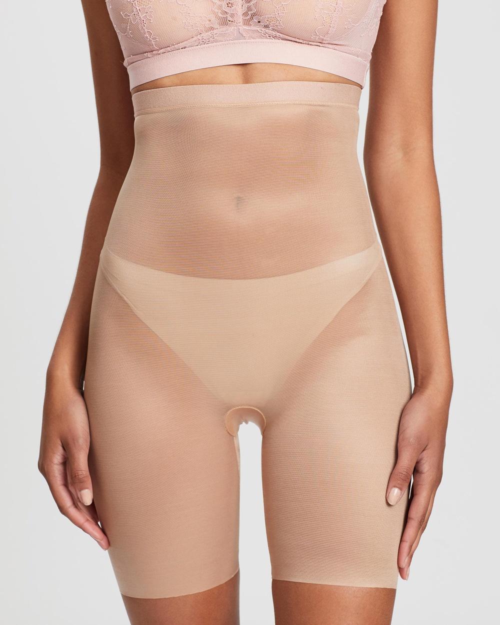 Spanx Skinny Britches High Waist Mid Thigh Shorts Underwear & Sleepwear Naked 2.0 High-Waist Mid-Thigh