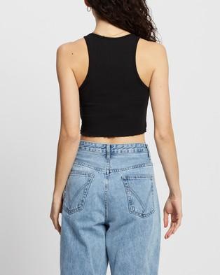 Dazie Take It Easy Cropped Tank - T-Shirts & Singlets (Black)