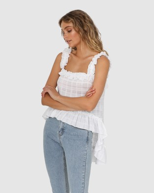 Lost in Lunar  Xana Top - Tops (White)