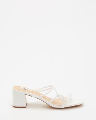 Dazie - Ravello Heels Sandals (White Smooth)
