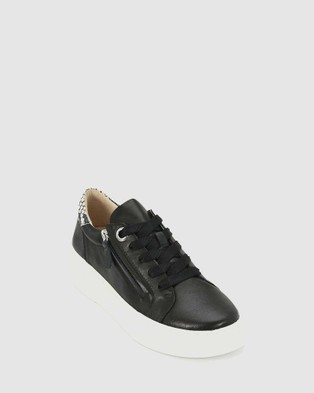 Eos - Marble Lifestyle Sneakers (Black)