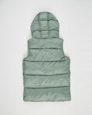 Cotton On Kids Billie Puffer Vest   Kids Teens - Coats & Jackets (Swag Green)